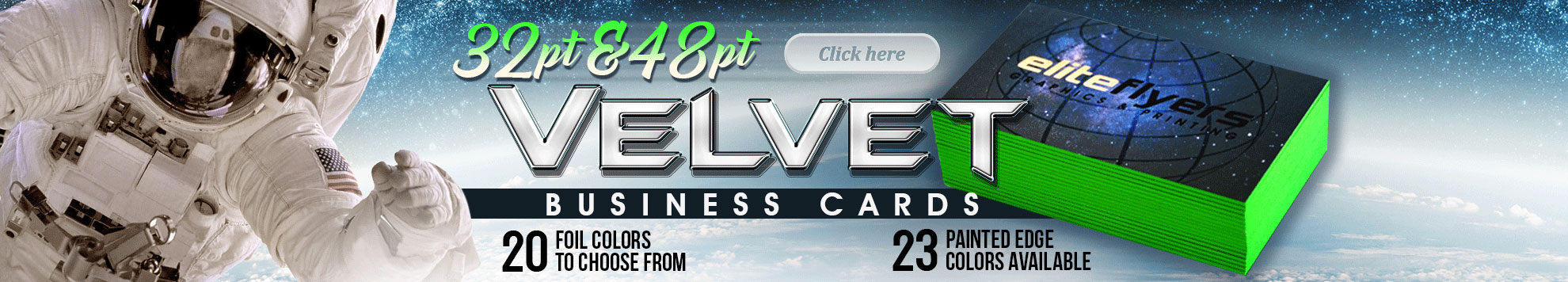 32pt & 48pt Velvet Business Cards
