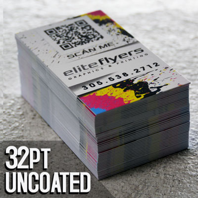 32pt Uncoated Business Cards