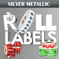 Silver Metallic Roll Labels