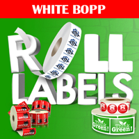 White BOPP Roll Labels