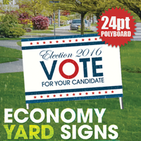 24pt Polyboard Yard Signs