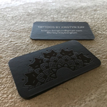 black-suede-business-cards-22pt-with-black-foil-and-white-pigment-foil