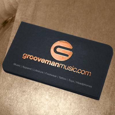 Foil Stamped Business Cards Sliver Gold or Copper Foil Stamping