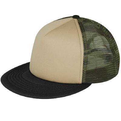khaki-front-green-camo-mesh-trucker-hats-screen-printed