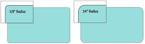 .125 vs .25 Rounded Corners.