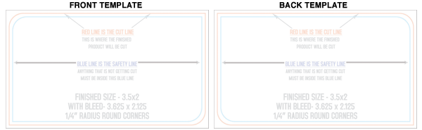 2 Rounded Corner Business Card Template.