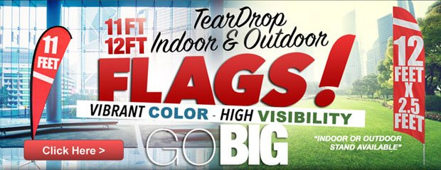 Tear Drop, Indoor And Outdoor Flags
