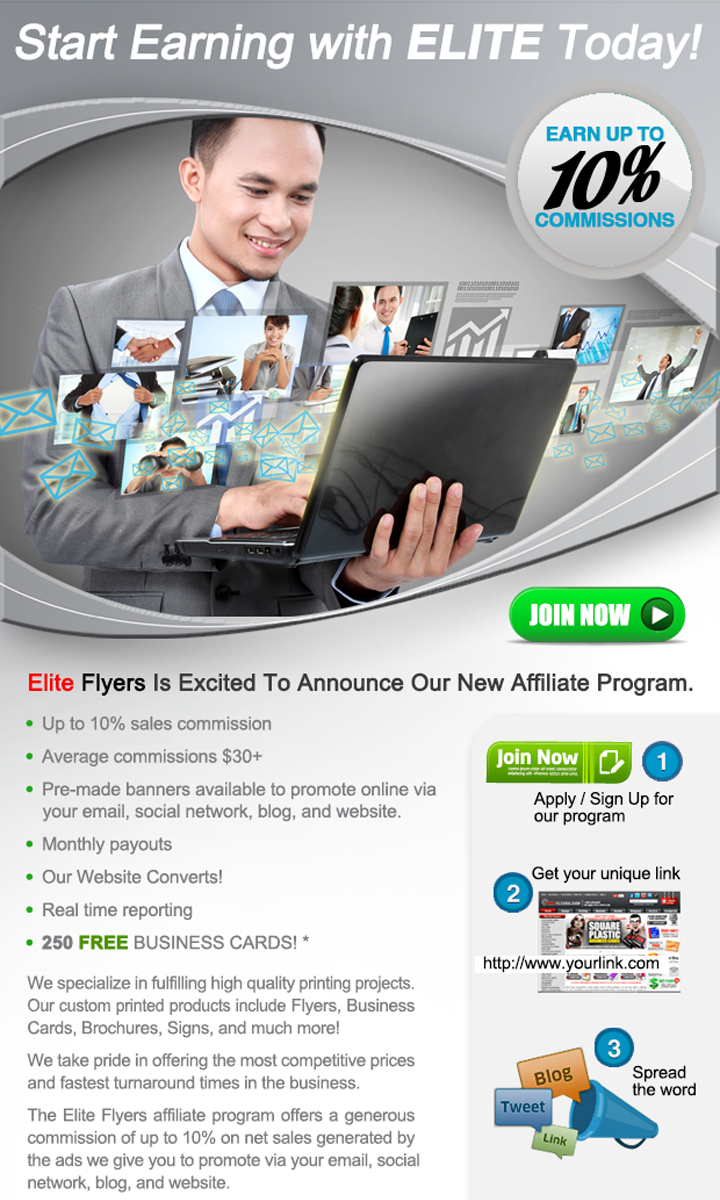 EliteFlyers.com's Affiliate Network