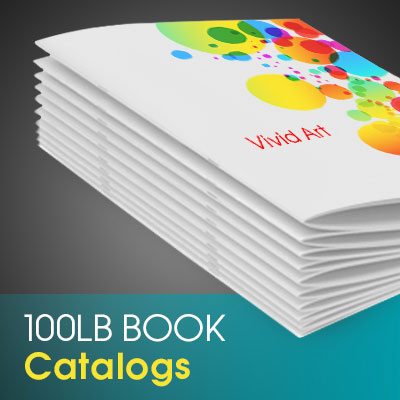 Catalogs Printed in Full Color on Premium 100lb Cover Stock with 100lb Book Inner Pages Saddle Stitch Binded and Aqueous (AQ)