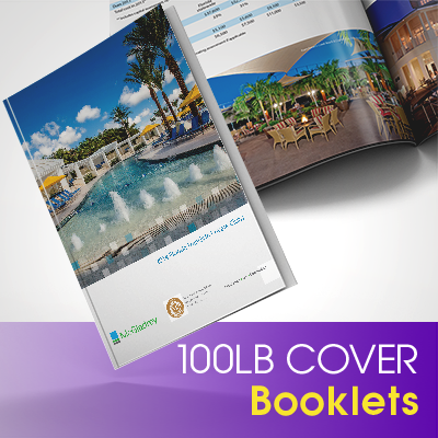 Booklets Printed in Full Color on Premium 100lb Cover Stock with Aqueous (AQ) Gloss and Saddle Stitch Binding
