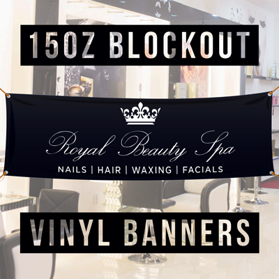 blockout banner, banner printing blockout vinyl, double sided banners
