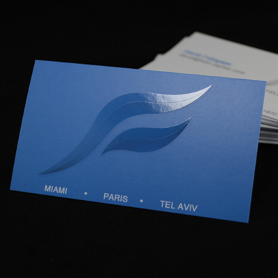 Spot UV Business Cards Printed in Full Color on 16pt Card Stock with Spot UV on One or Two Sides