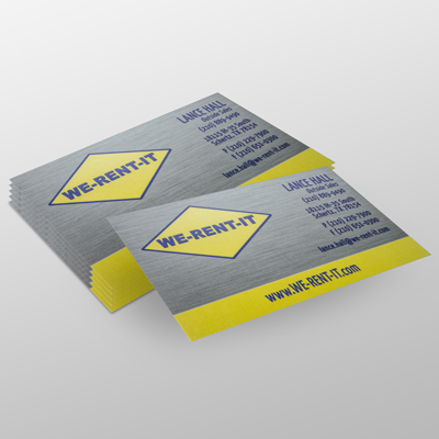 Business Cards Printed in Full Color on 18pt c1s Card Stock