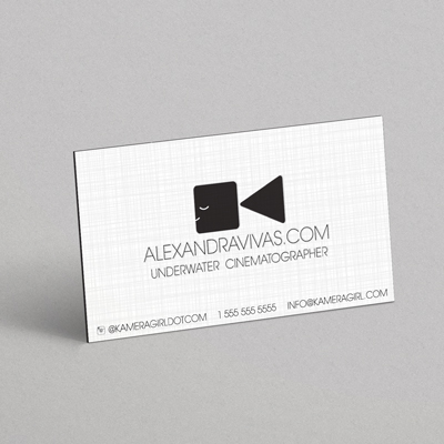 24pt Linen Business Cards