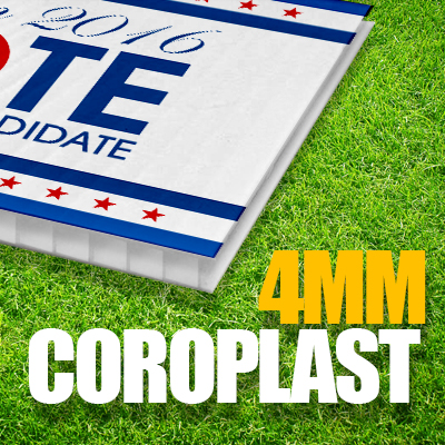 coroplast signs, yard sign, campaign signs, coroplast 4mm sign