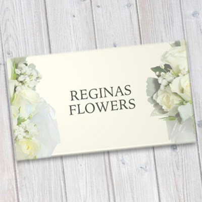 Business Cards Printed in Full Color on 14pt Natural White Colored Card Stock