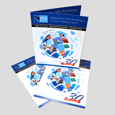 Brochures Printed in Full Color on Premium 100lb Cover Stock with Aqueous (AQ) Gloss