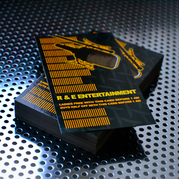 Business Cards Printed in Full Color on 16pt Card Stock with Choice of UV Glossy, UV 1 Side, or Matte Finish