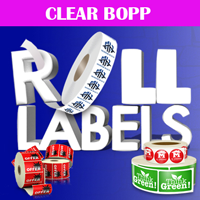 Clear BOPP Roll Labels