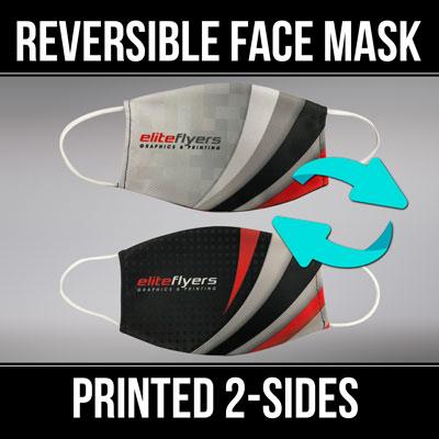 budget face masks custom printed logo or full color design