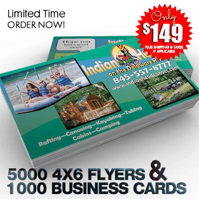 5,000 4x6 postcards & 1,000 Business Card Special