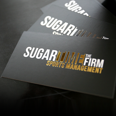 Foil Stamp Business Cards, 16pt Silk Card Stock with Choice of Silver, Gold, Copper, Black, Blue, Red Foil Stamping