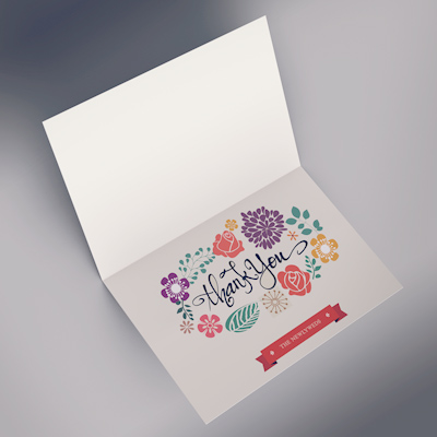 Greeting Cards Printed in Full Color on 14pt Natural Card Stock