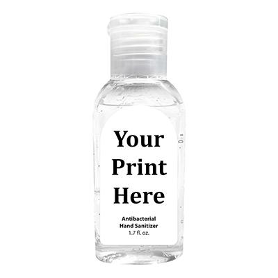 Logo printed on hand sanitizer, full color prints on hand sanitizer