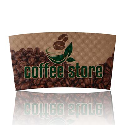 drink sleeve printing, custom coffee sleeve stamp, coffee sleeve material