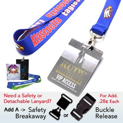 custom lanyard badges, custom woven lanyards, lanyard printing and PVC Badge Prints