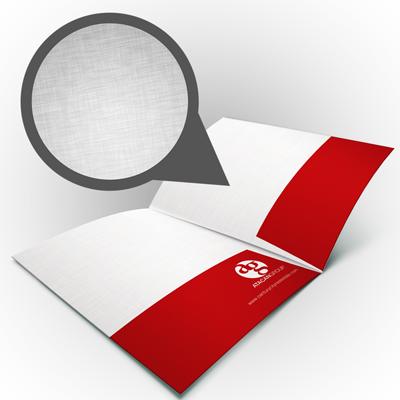 Pocket Folders Printed in Full Color on 100lb Linen Stock