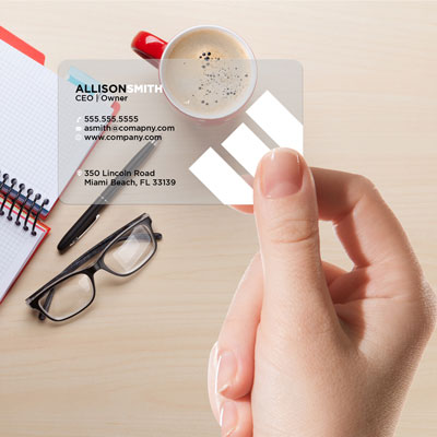 plastic business cards, transparent business card printing, glass business cards