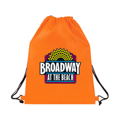 Drawstring Backpack Bags Custom Printed in One or Full Color on A Colored Drawsting Backpack Bag of Your Choice