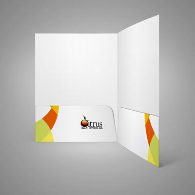 Pocket Folders Printed in Full Color on 14pt Dull Matte Card Stock