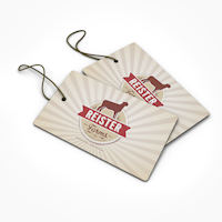 14pt Dull Matte Hang Tags