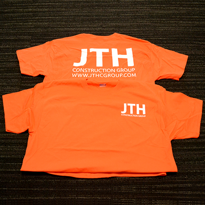 T-shirts Silk Screen Printed with Your Company Logo or Message on a Color Shirt of Your Choice