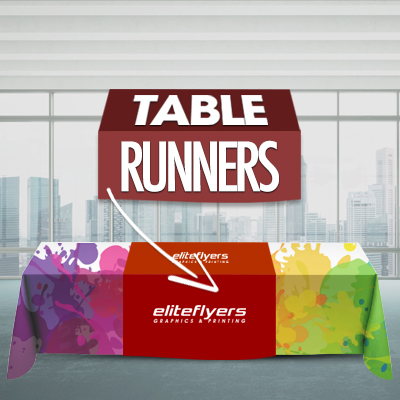 Table Runner, Dye Sublimation Printed, Full Color Table Runner Table Advertising