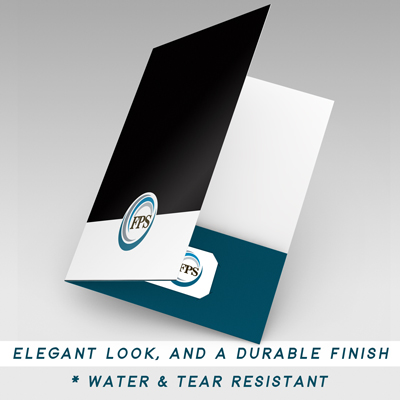 pocket folder, velvet folder printing, soft touch presentation folders