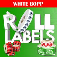 White BOPP Roll Labels