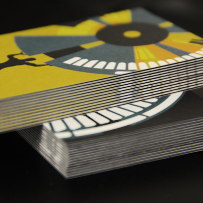 32pt core postcards 3ply with colored core printed by elite flyers 32pt black core business cards reheart Choice Image