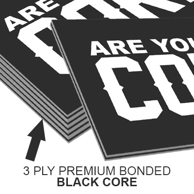 32pt core buiness cards 3ply with colored core printed by elite flyers 32pt core business cards reheart Choice Image