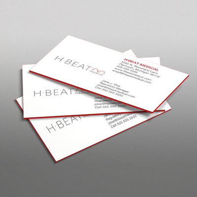 48pt silk laminated business cards