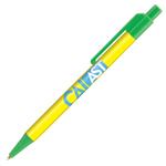 Retractable-Promo-Pens-Plus-Color-Trim-Green