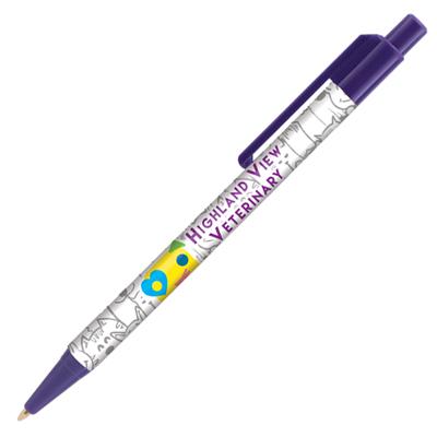 Retractable-Promo-Pens-Plus-Color-Trim-Purple