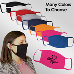 colored face mask custom printed with company logo