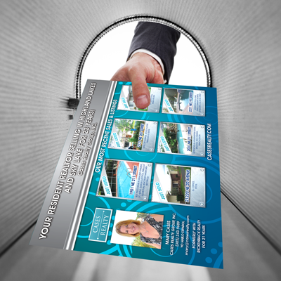 direct mailing campaigns printed on 16pt card stock in full color