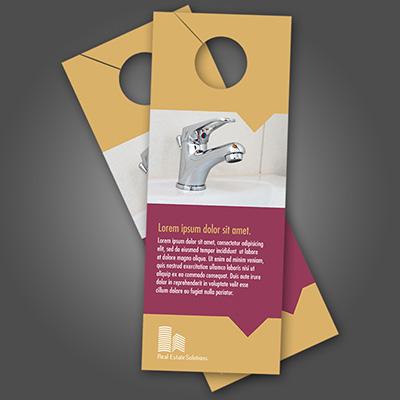 Door Hangers Printed In Full Color On 16pt Card Stock