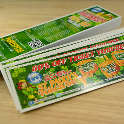 Event Tickets Printed in Full Color with Option for Sequential ...