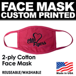 Face mask custom printed with company logo or brand.