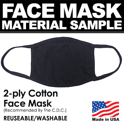 Order a cotton fabric face mask sample before placing your order.